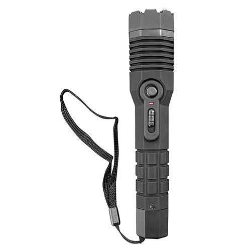 Rubberized Stun Device with LED Flashlight
